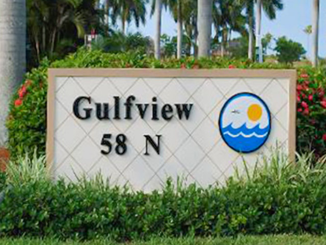 Gulfview Club Condos Sign