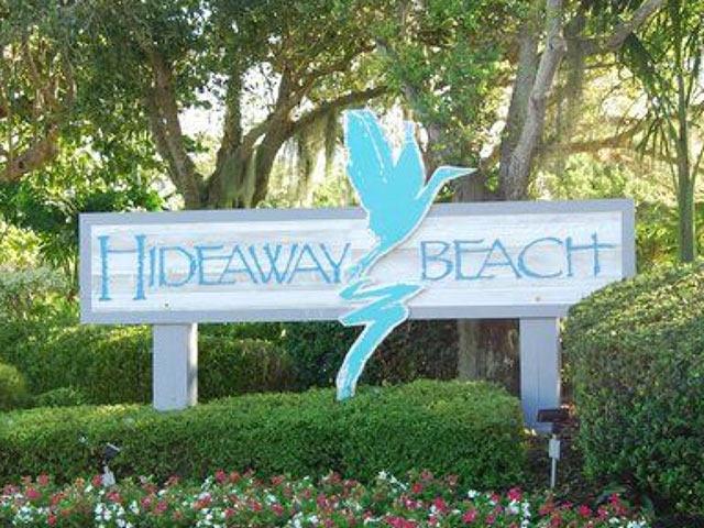Hideaway Beach Club entrance sign