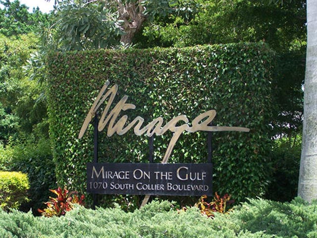 Mirage on the Gulf Entrance Sign